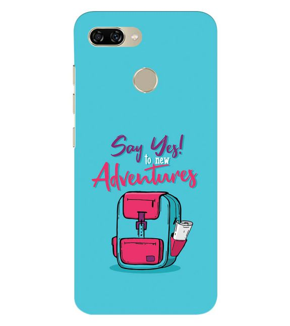 Say Yes to New Adventure Back Cover for Gionee S11 lite