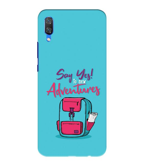 Say Yes to New Adventure Back Cover for Huawei Nova 3