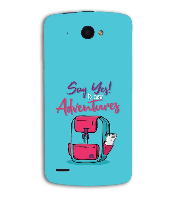 Say Yes to New Adventure Back Cover for Lenovo S920