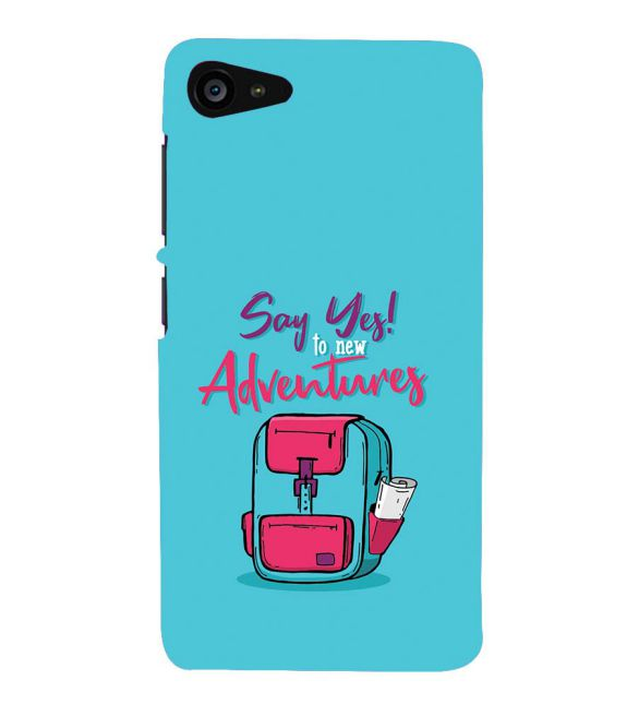 Say Yes to New Adventure Back Cover for Lenovo ZUK Z2