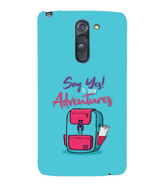 Say Yes to New Adventure Back Cover for LG G3 Stylus