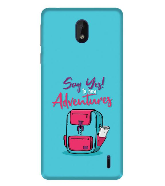 Say Yes to New Adventure Back Cover for Nokia 1 Plus