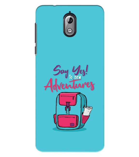 Say Yes to New Adventure Back Cover for Nokia 3.1 (2018)