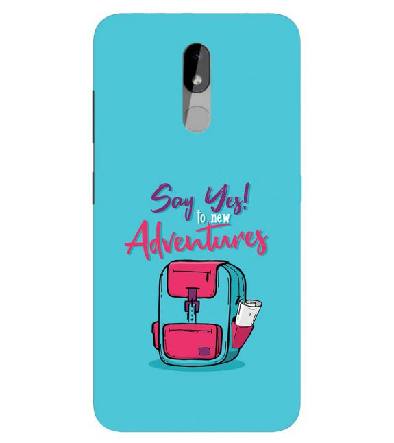 Say Yes to New Adventure Back Cover for Nokia 3.2