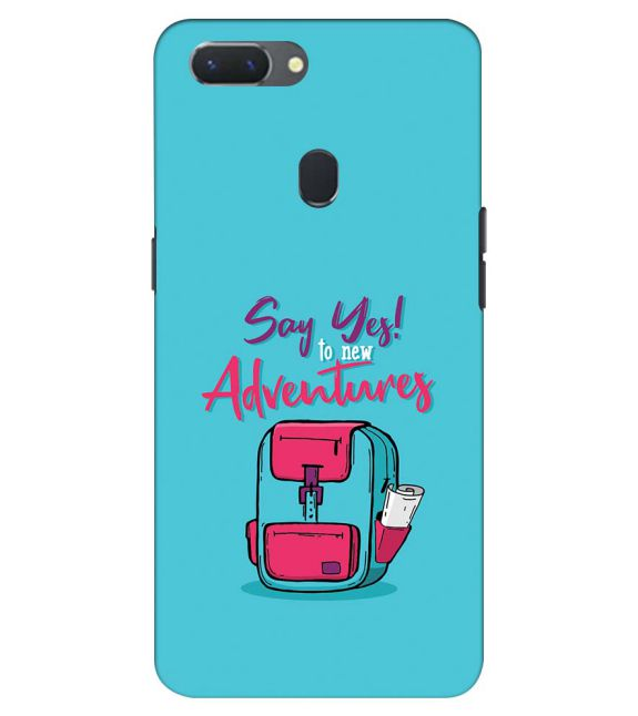 Say Yes to New Adventure Back Cover for Oppo Realme 2