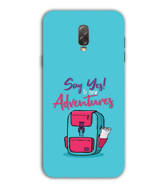 Say Yes to New Adventure Back Cover for Samsung Galaxy J7 Plus
