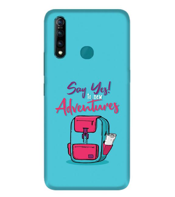 Say Yes to New Adventure Back Cover for Vivo Z1 Pro