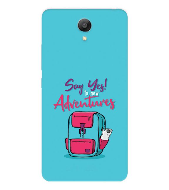Say Yes to New Adventure Back Cover for Xiaomi Redmi Note 2