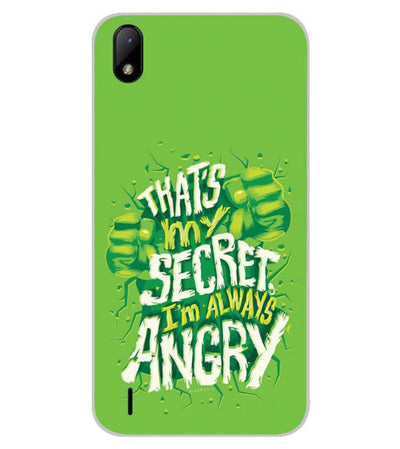 Secret I Am Always Angry Back Cover for Lava Z41