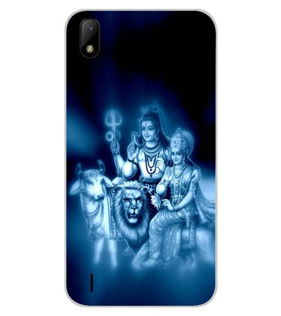 Shiv Parvati Back Cover for Lava Z41