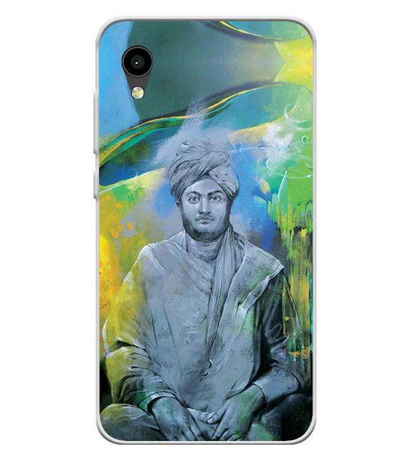 Swami Vivekananda Back Cover for Intex Aqua 4G Mini