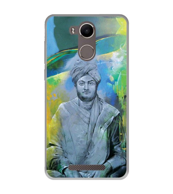 Swami Vivekananda Back Cover for Karbonn K9 Kavach 4G
