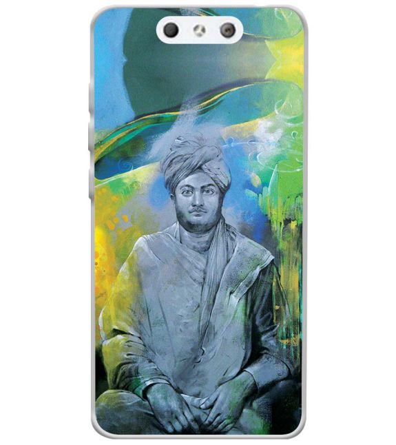 Swami Vivekananda Back Cover for LYF Earth 1