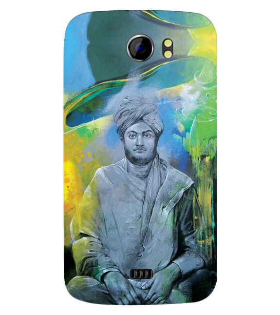 Swami Vivekananda Back Cover for Micromax A110 Canvas 2