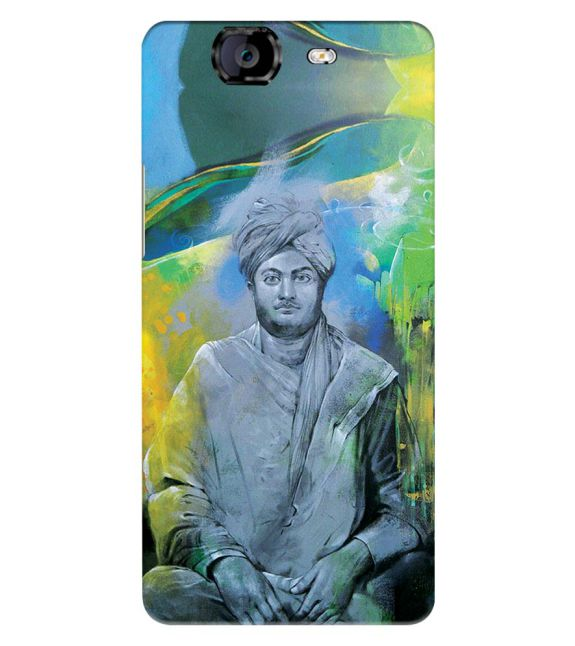 Swami Vivekananda Back Cover for Micromax A350 Canvas Knight