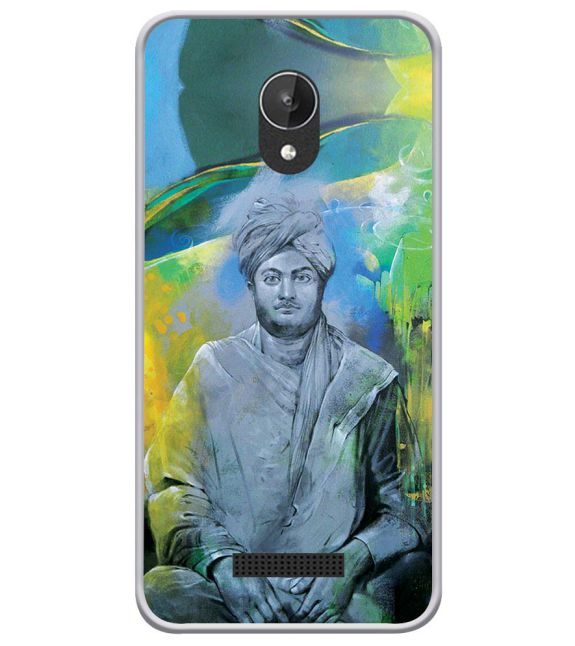 Swami Vivekananda Back Cover for Micromax Spark Q380