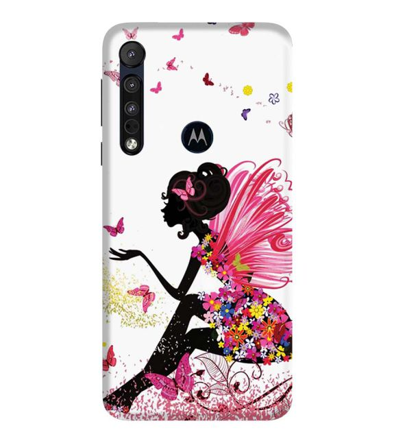 The Pixie With Her Butterflies Back Cover for Motorola Moto G8 Plus
