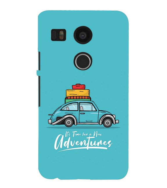 Time for Adventure Back Cover for Google Nexus 5X