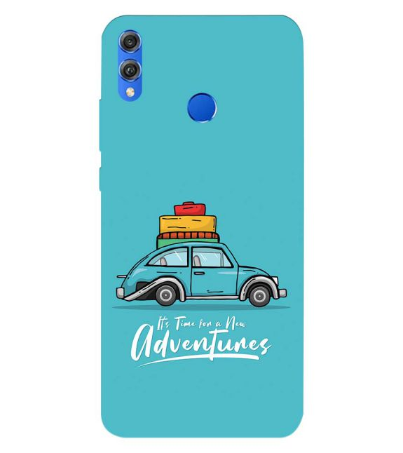 Time for Adventure Back Cover for Huawei Honor 8X