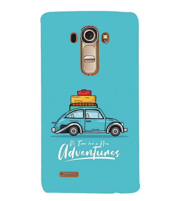 Time for Adventure Back Cover for LG G4