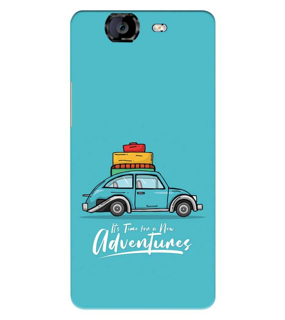 Time for Adventure Back Cover for Micromax A350 Canvas Knight