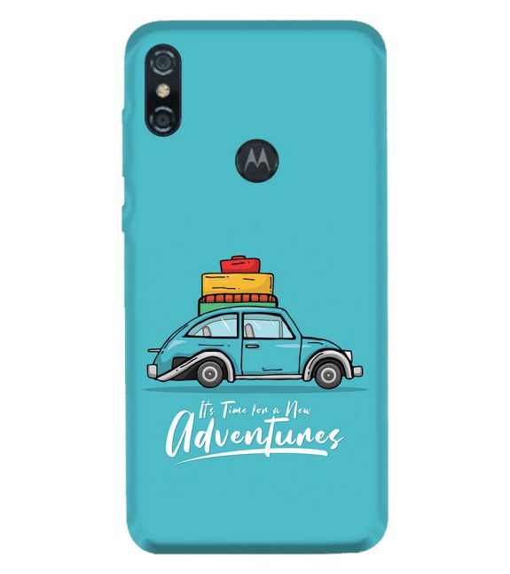 Time for Adventure Back Cover for Motorola One (P30 Play)