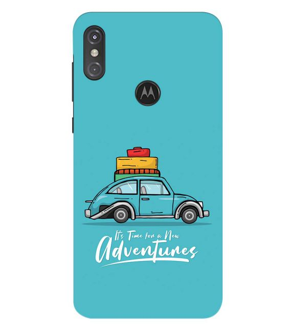 Time for Adventure Back Cover for Motorola One Power (P30 Note)