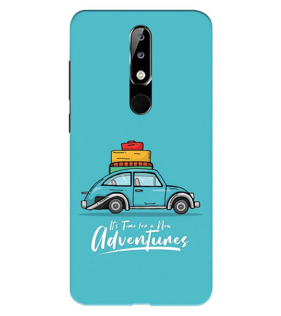 Time for Adventure Back Cover for Nokia 5.1 Plus (Nokia X5)