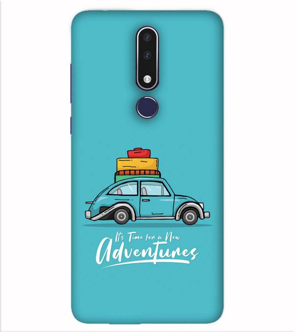 Time for Adventure Back Cover for Nokia 7.1