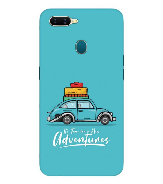 Time for Adventure Back Cover for Oppo A7