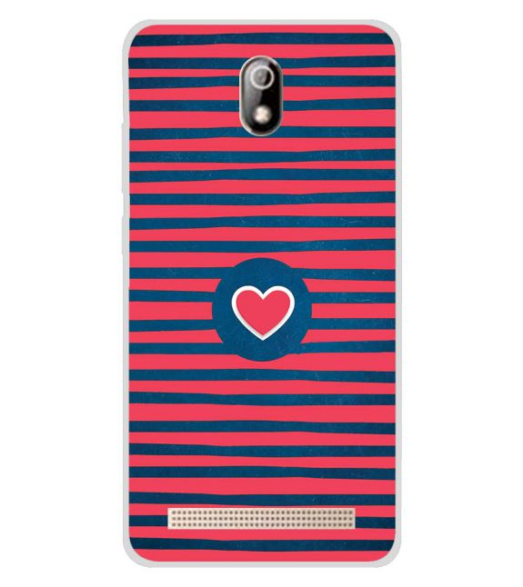 Trendy Heart Back Cover for Comio C1 Pro