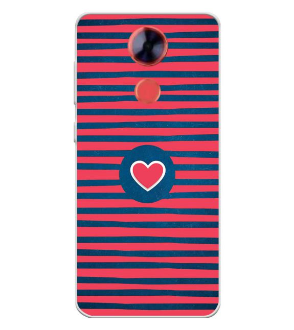 Trendy Heart Back Cover for Comio X1