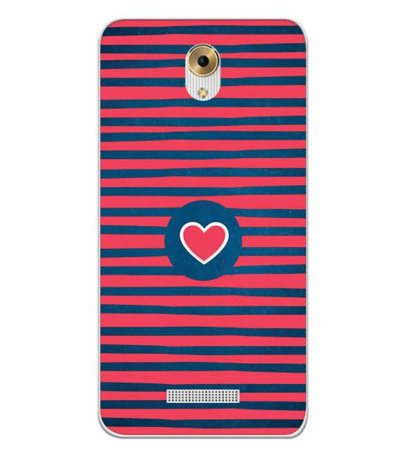 Trendy Heart Back Cover for Coolpad Mega 5M