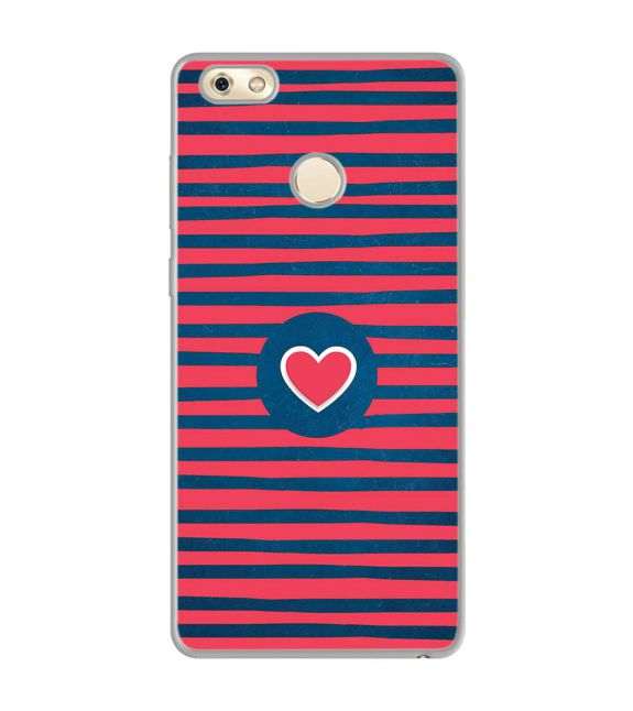 Trendy Heart Back Cover for Gionee M7 Power