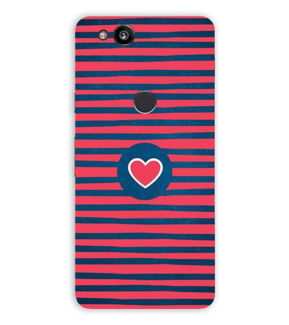 Trendy Heart Back Cover for Google Pixel 2 (5 Inch Screen)