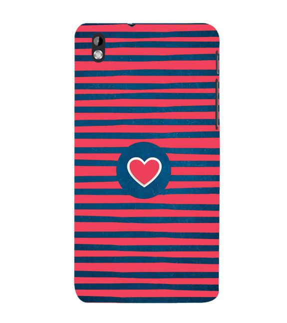 Trendy Heart Back Cover for HTC Desire 816