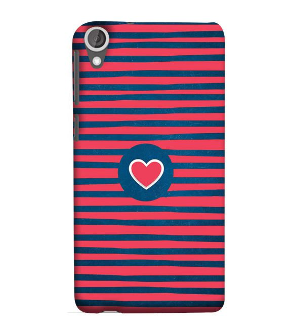 Trendy Heart Back Cover for HTC Desire 825