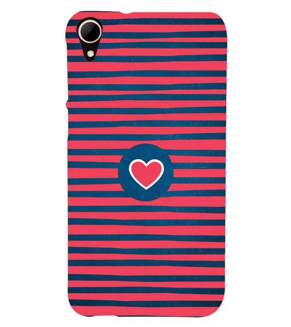 Trendy Heart Back Cover for HTC Desire 828