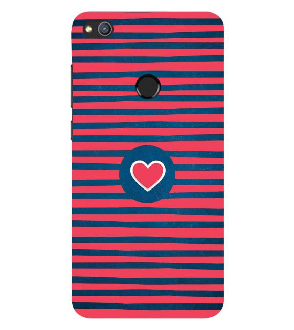 Trendy Heart Back Cover for Huawei Honor 8 Lite