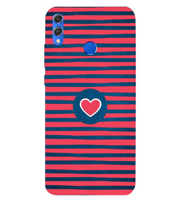 Trendy Heart Back Cover for Huawei Honor 8X