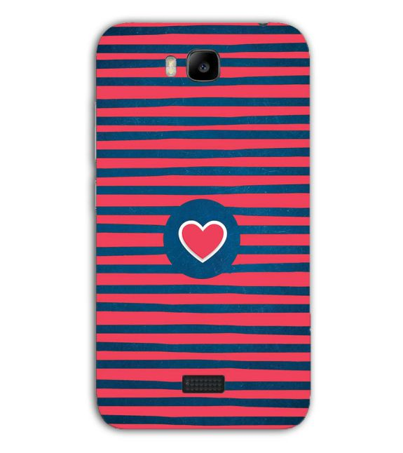 Trendy Heart Back Cover for Huawei Honor Bee