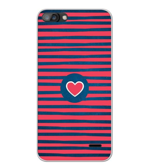 Trendy Heart Back Cover for iKall K1