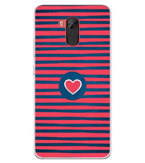 Trendy Heart Back Cover for Infinix Note 5 Stylus