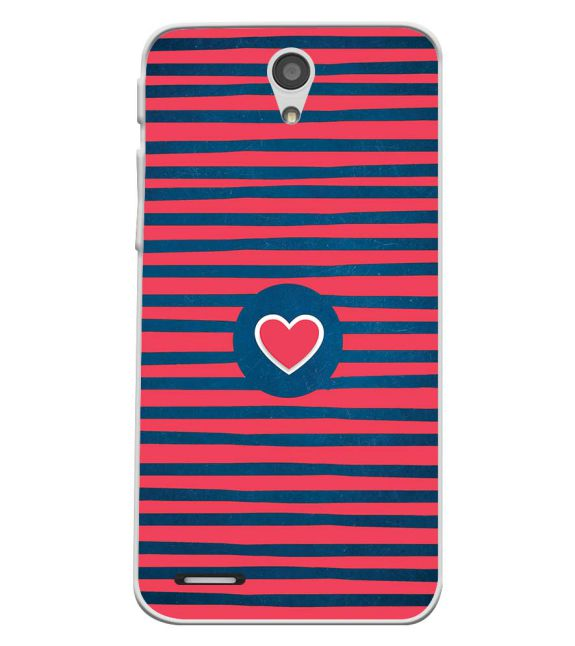 Trendy Heart Back Cover for InFocus M260