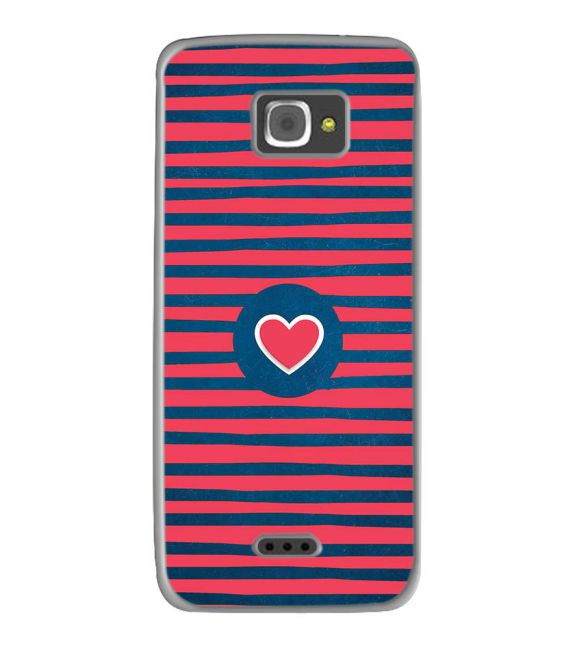 Trendy Heart Back Cover for InFocus M350