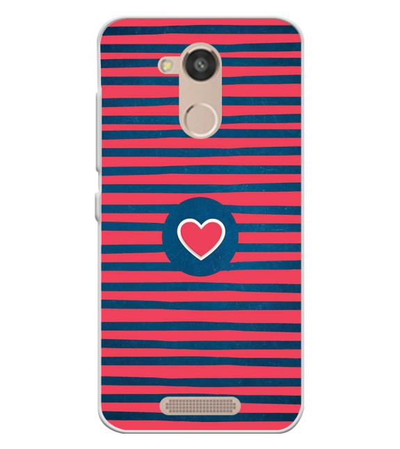 Trendy Heart Back Cover for InFocus Turbo 5s