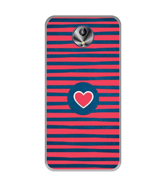 Trendy Heart Back Cover for Intex Amaze+