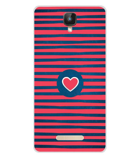 Trendy Heart Back Cover for Intex Aqua Lions 2 4G