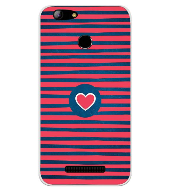 Trendy Heart Back Cover for Intex Aqua Lions X1