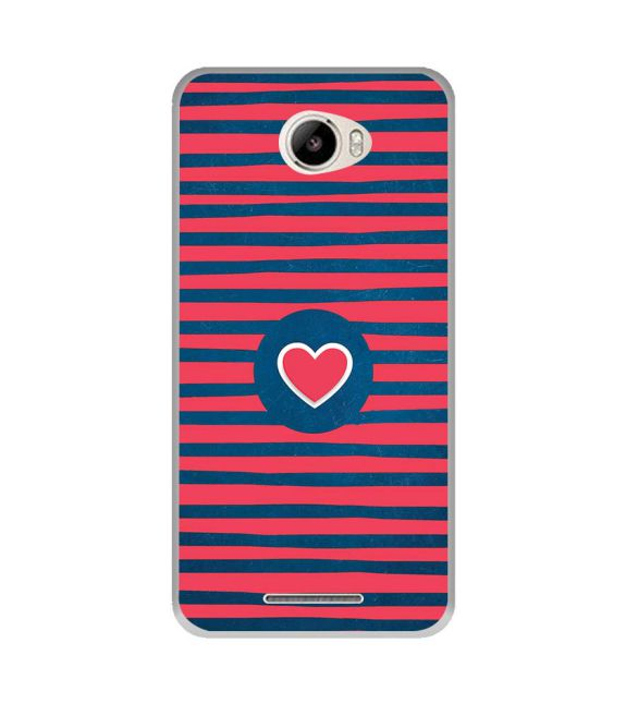 Trendy Heart Back Cover for Intex Intx Trend Lite